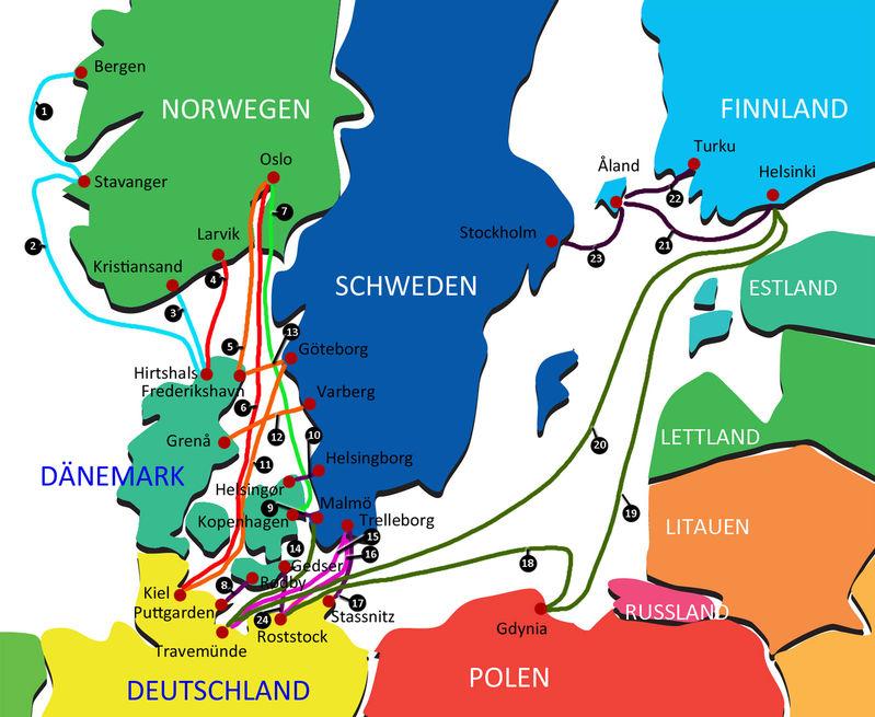 Anreise Skandinavien Fahrverbindungen Kanutouren Angeln
