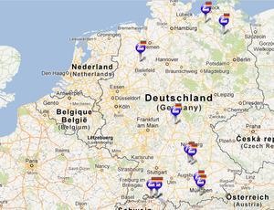 kanutouren deutschland karte Kanutour Deutschland / Niederlande