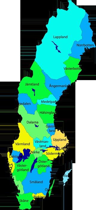 Schweden Karte Regionen.Sudschweden Alle Regionen Auf Einen Blick